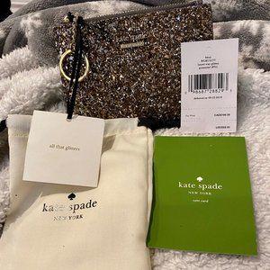 NEW Kate Spade Laurel Way Glitter card coin case